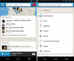 Foursquare for Android now makes it easier to find friends, places nearby
