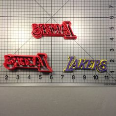 Lakers Word Cookie Cutter Set