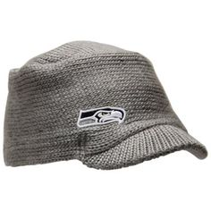 New Era Seattle Seahawks Ladies Snow Sergeant Knit Visor Hat - Gray