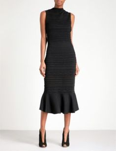 ALEXIS - Rilla fit-and-flare knitted lace midi dress | Selfridges.com