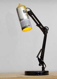 Spray Paint Swivel Arm Architect Lamp from IkuannaStudios on Etsy. did they adapt the IKEA frosa light? Spray Paint Lamps, Spray Painting, Diy Luz, Luminaria Diy, Architect Lamp, Recycled Lamp, Licht Box, Vintage Industrial Lighting, Vintage Lamps