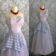 Hey, I found this really awesome Etsy listing at https://www.etsy.com/listing/202301716/vintage-1950s-prom-dress-50s-tulle-lace