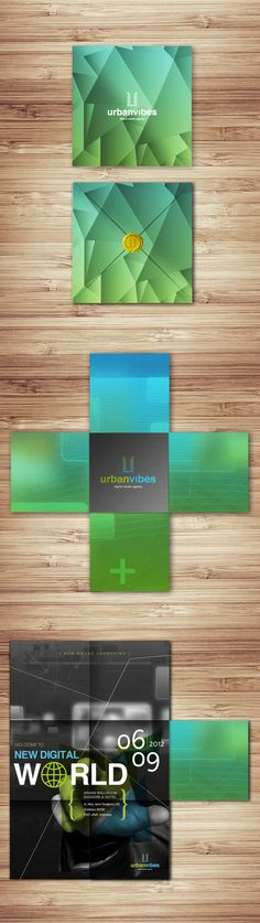 Urban Vibes | Digital Media Agency Identity Visual by Yohanes Raymond, via Behance