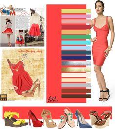 Coral bright pink and orange Color Wheel Fashion, Colour Combinations Fashion, Fashion Colours, Colorful Fashion, Color Combinations, Deep Winter Colors, Seasonal Color Analysis, Fashion Vocabulary, Color Me Beautiful