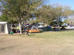 Tents our for Camping Under the Stars in Marana, AZ