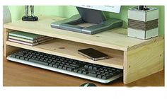 Monitor Stand file cabinet wooded office desk by HOMEbyTAKE