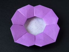 Piatto a fiore - Flower Dish From one uncut square. Designed and folded by Francesco Guarnieri, March Origami Bowl, Origami Folding, Origami Design, Some Pictures, Cube, My Design, Gallery, Dish, March