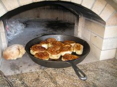 Wood-fired cinnamon rolls