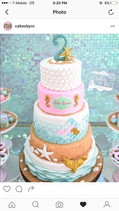 The Little Mermaid Cake Topper Personalized Age Cake Topper