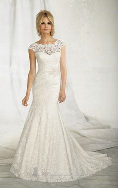20 Beautiful Wedding Dresses for Modern Brides | love the sleeves on this one!
