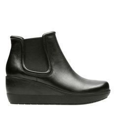 Wynnmere Mara Black Leather - Women's Booties & Ankle Boots - Clarks® Shoes Official Site