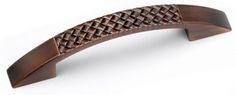 Laurey Cabinet Knobs, 96mm, Cross-Hatch Pull- Venetian Bronze