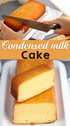 Homemade Cake Recipes, Fun Baking Recipes, Sweet Recipes, Snack Recipes, Mango Dessert Recipes, Indian Dessert Recipes, Cookie Recipes, Condensed Milk Cake, Condensed Milk Recipes