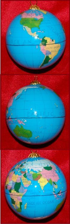 Travel the World with Me - Engagement Christmas Ornament Personalized