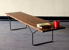 Benches on pinterest benches teak and hans wegner - Bertoia coffee table ...