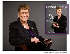 Jo Budler: LJs 2013 Librarian of the Year| Known for fighting with OverDrive to move titles purchased to a different platform.