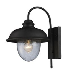 ELK Lighting Streetside Cafe 1 Light Outdoor Sconce in Matte Black 62000-1 #lightingnewyork #lny #lighting 15'' tall 12'' wide $100