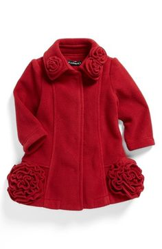 Biscotti Fleece Coat (Baby Girls) available at #Nordstrom