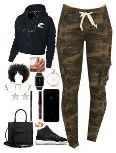"""""""Untitled #404"""" by madeforfashion ❤ liked on Polyvore featuring NIKE, Chanel, Rebecca Minkoff, Ray-Ban, Lilou, Givenchy, A Mano Trading and Cartier"""