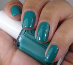 Essie: ♥ Ruffles & Feathers ♥  TEAL Green creme nail polish, from the Haute In The Heat Collection for Summer 2014