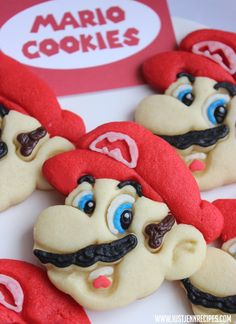 12 days of cookies day 5 mario cookies