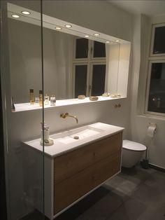 SkabRum, Bathroom furniture in oak. #bathroom #customerpictures #danishdesign #design #oak #wood