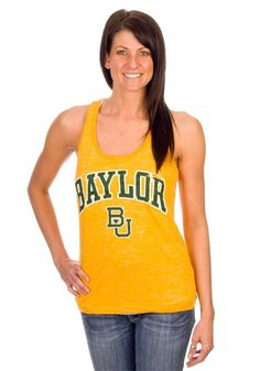 Gold #Baylor women's tank ($27.95 on rallyhouse.com) #sicem
