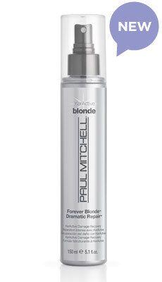 Paul Mitchell Forever Blonde Dramatic Repair. Legit liquid gold for your hair.  It make hair feel like silk.