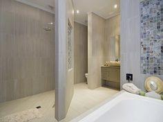 Unique toilet and shower area layout