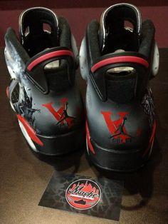 4fa3d037f6d3 The homie Jim Jones got a custom Vampire Life Jordan made in with a Air  Jordan 6 VI model