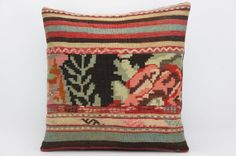 16x16 Hand Woven wool tribal ethnic patchwork  by GalenUnique, $45.00