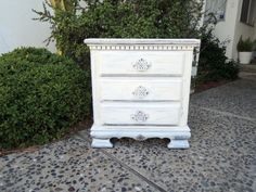 SHABBY CHIC 2 Drawer Nightstand in Distressed White by HouseCandyLA Los Angeles  #Venice #freedelivery #bedroom