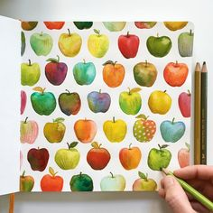 "2,509 Likes, 66 Comments - Kirsten Sevig (@kirstensevig) on Instagram: ""And the polka-apple pattern is done! This time, since I painted with a repeat it mind (and on a…"""