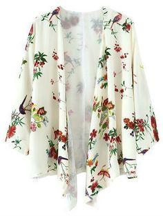 Printed Chiffon Kimono