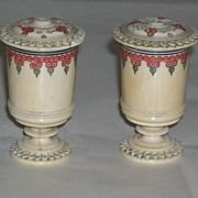Antique Anglo Indian Ivory Salt & Pepper Shakers c 1900