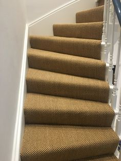 Sisal Carpet To Stairs In Private Residence