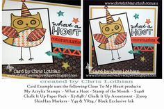 Christine's Creative Capers: What a Hoot! - Totally Awesome New Products