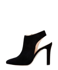 White &amp black trim leather heels Sale - Jady Rose Sale | Shoes