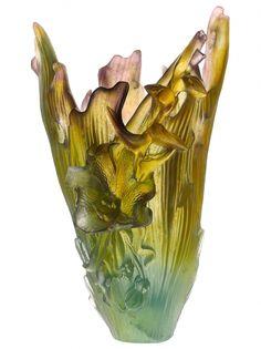 Daum Crystal | Cattleya Vase