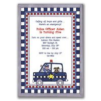 police car theme kids party - Bing Images. Retro Whimsy Designs