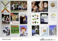 Colorful Project life page using  Highs and Lows by Sahlin Studio