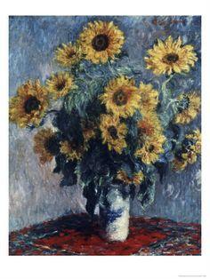 Sunflowers - By Claude Monet