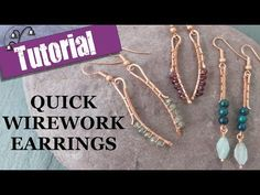 Jewellery making tutorials, tips and techniques. New upload weekly. Do you make your own jewellery, or want to learn? Then let me help with techniques and tu. Copper Jewelry, Crystal Jewelry, Wire Jewelry, Handmade Jewelry, Copper Wire, Jewelry Kits, Earrings Handmade, Jewlery, Handmade Gifts
