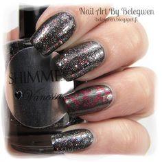 Nail Art by Belegwen: Shimmer Polish: Vanessa