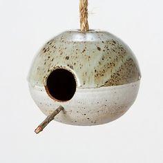 For the Birds: Heather Levine Ceramics - Modern Design Ceramic Birds, Ceramic Pottery, Pottery Art, Ceramic Bird Houses, Clay Birds, Pottery Painting, Painting Art, Pottery Workshop, Pottery Studio