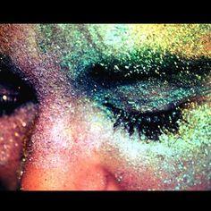 Glitter on mydaughter's face