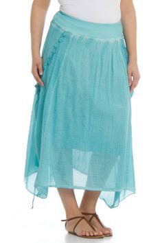 Zer Otantik Etek Skirt in Turquoise - Beyond the Rack