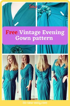 This vintage evening gown pattern will have heads turning every time you wear it. Instead of making the dress from scratch, you can upcycle a cheap dress you see in the thrift shop and turn it into a chic and elegant gown. With a few adjustments here and there, you can make the dress to suit your body size. With this pattern, you can make a dress that you will want to wear every chance you get. #eveninggownpatterns#sewingpatterns#gownsewingpatterns#vintagegownpatterns#sewingvintagegowns Formal Dress Patterns, Unique Formal Dresses, Cheap Dresses, Prom Dresses, Evening Gown Pattern, Vintage Evening Gowns, Elegant Gown, Gowns Of Elegance, Body Size