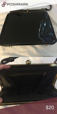 Black vintage frame purse Black patent vintage frame purse Bags