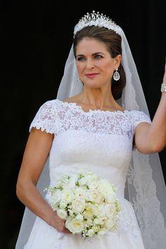 El vestido de novia de Magdalena de Suecia #boda #vestido #bodareal #bodasuecia